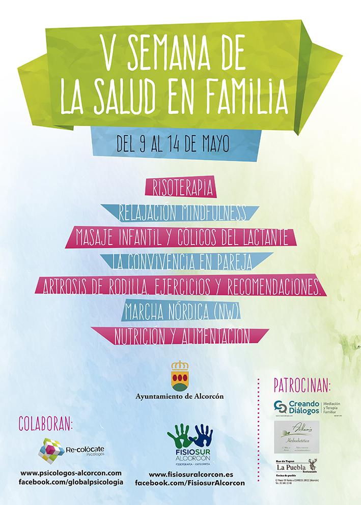 Cartel V Semana de la Salud en Familia de Alcorcón