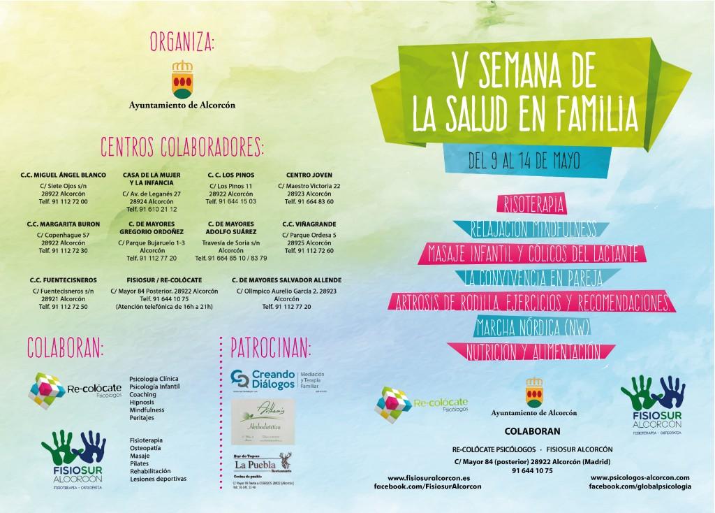 Portada V Semana de la Salud en Familia de Alcorcón