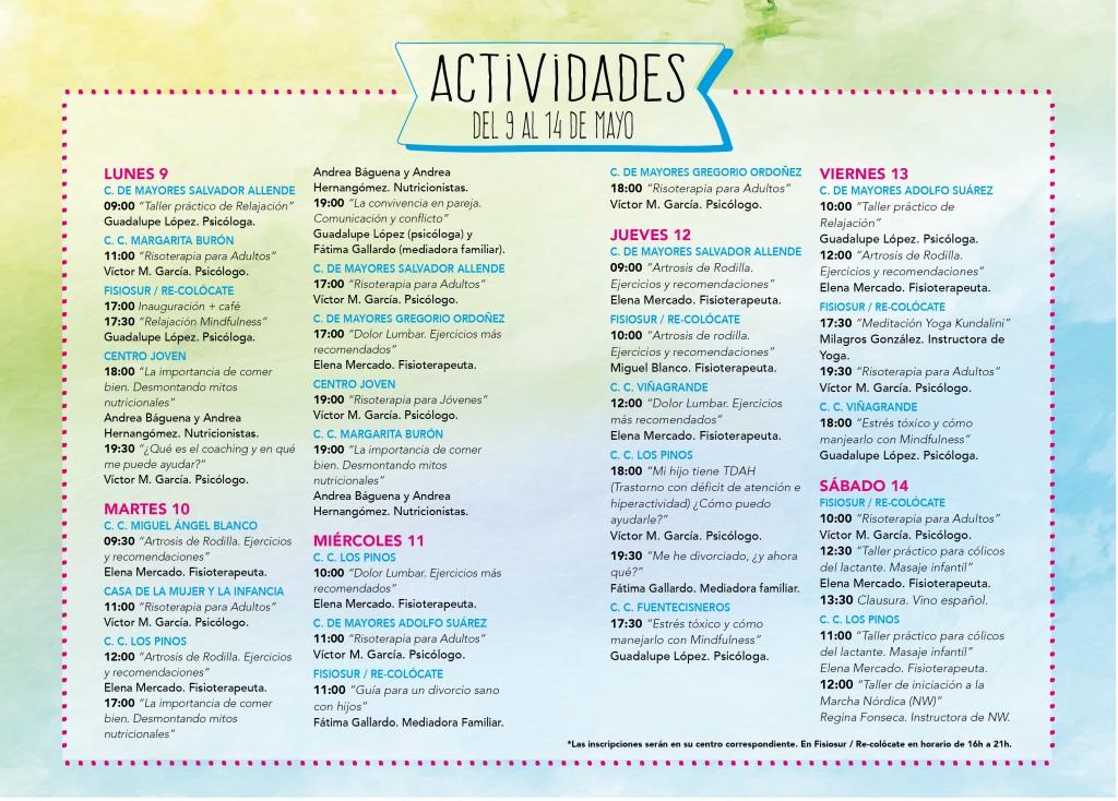 Programa V Semana de la Salud en Familia de Alcorcón