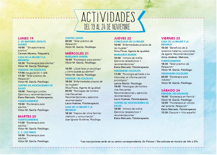 Talleres VI Semana de la Salud en Familia de Alcorcón